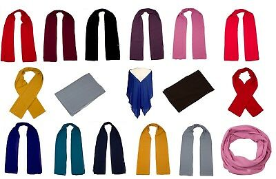 Ladies Plain Chiffon Scarf Shawl Large Scarves Wrap Wedding Evening Prom Shawls