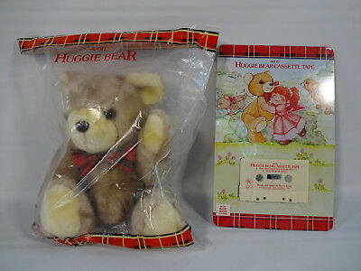 "Vintage 1985 Avon HUGGIE BEAR 12"" Plush Teddy & Cassette Tape - New Sealed VTG"