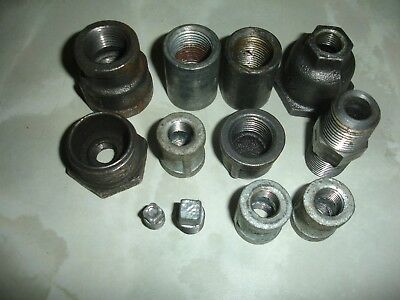12 BLACK MALLEABLE IRON PIPE FITTINGS job lot