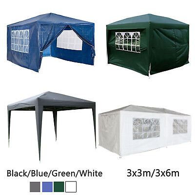 Garden PVC PE Gazebo Marquee Party Tent Wedding Canopy 3x6m Multi Function Green