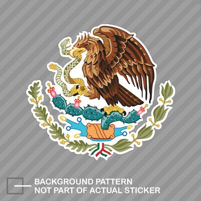 Mexican Coat of Arms Sticker Decal Vinyl Mexico flag MEX MX