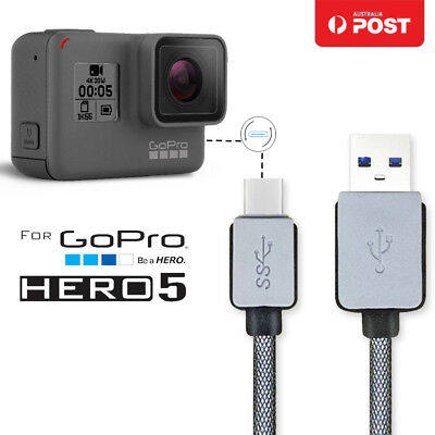 1M USB Type C TYPE-C Data Charger Charging Cable Cord Fr Gopro Hero 5 Camera OZ