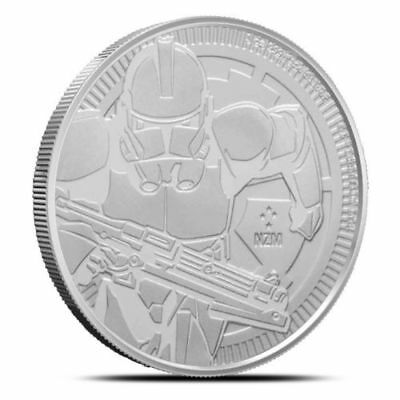 2019 Niue Clone Trooper 1 oz Silver Coin Star Wars Bullion .999 AG Round INSTOCK