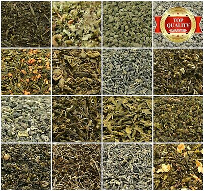 Green Tea 17+ Types! Loose Leaf Green Tea - Top Quality - Thick Leaf Tea 50-200g