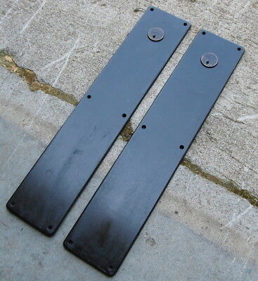 Original Antique Yale & Towne Oversized Iron Door Push Plate Studebaker Building