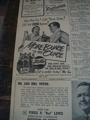 1950 pepsi cola newspaper clipping ad more bounce to the ounce swimming
