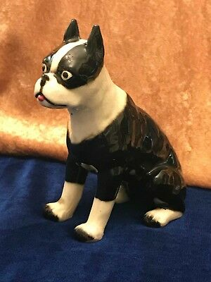 Antique Boston Bulldog Terrier Figurine Circa 1947