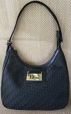 46a471cb4cbd Authentic Christian Dior Hobo Shoulder Bag Purse Signature Leather Canvas  Medium