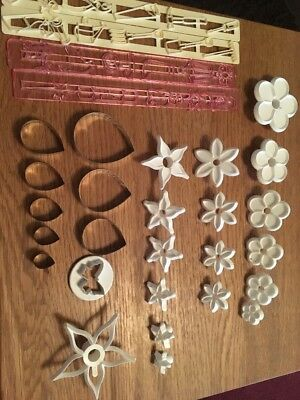 Sugarcraft Flower Cutters Cake Decorating Job Lot Bundle