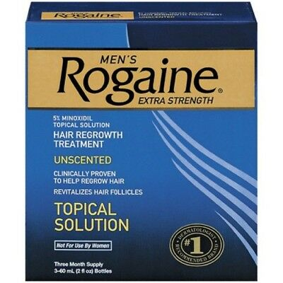 ROGAINE MEN'S TOPICAL SOLUTION 3 MONTHS 5% minoxidil extra strength liquid 02/17