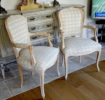 Antique pair of French Louis VI Armchairs.