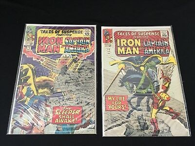 Tales Of Suspense Comic Lot Of 2 Captain America & Iron Man