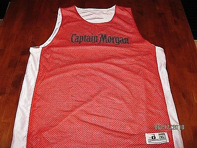 NWOT Captain Morgan Rum Reversible Men's Basketball Jersey - Size XL Tank