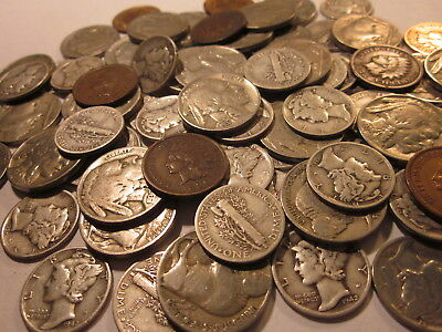 Iconic Set Mercury Dime Buffalo Nickel Indian Head Cent Coin Lot-Free Wheat Cent