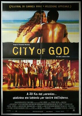 CITY OF GOD Manifesto Film 2F Poster Originale Cinema 100x140 MEIRELLES