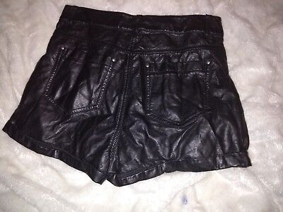 Sexy  faux leather shorts, UK 10, H&M divided, black