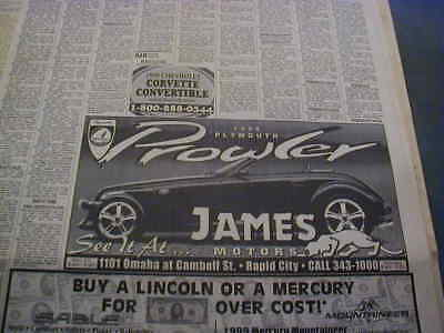 1999 plymouth prowler newspaper ad local dealership