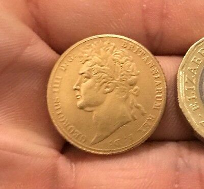 Restrike George IIII Full Sovereign 1822 1823 1824 1825 Gold Plated King