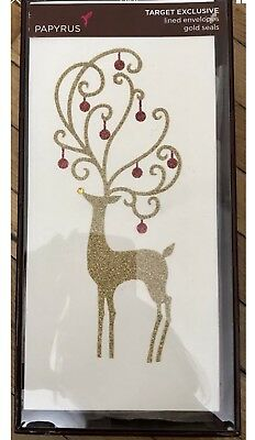 Papyrus christmas holiday greeting cards gold glitter reindeer 10 papyrus christmas holiday greeting cards gold glitter reindeer 10 ct m4hsunfo
