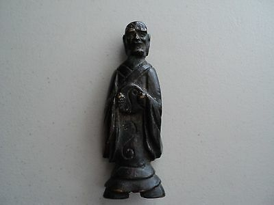 Antique Rare Very Old Collectible Heavy Iron Monk