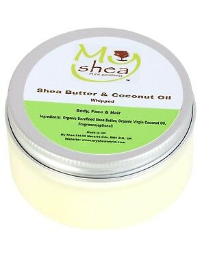 Whipped Pure Organic Unrefined Shea Butter with Coconut Oil, 100 ml