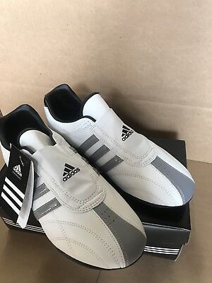 32a1667bee3070 New Adidas ADI-LUX Taekwondo Karate MMA Hapkido Martial Arts Indoor Shoes  WHITE