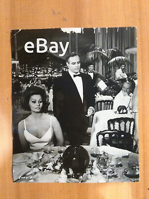 Sophia Loren Marlon Brando Countress from Hong Kong Vintage Original Photo