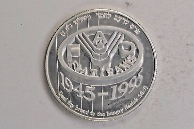 1995 Israel Silver 2 New Sheqalim Agriculture .99c NO RESERVE