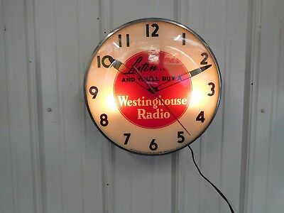 Vintage Westinghouse Telechron Advertising Clock