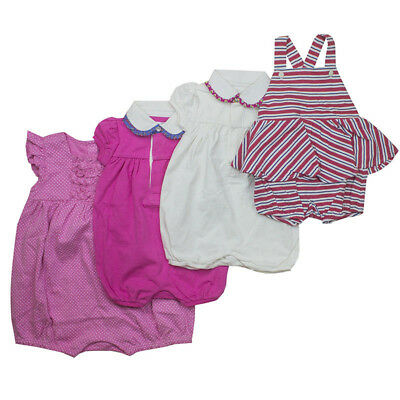 722a29271 Ralph Lauren Girl Baby grow Play suit Rompers Pink White T shirt Dress 3 to  12