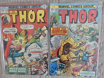 The Mighty Thor 2 Issue Lot #240,242     Fine To Very Fine Cond