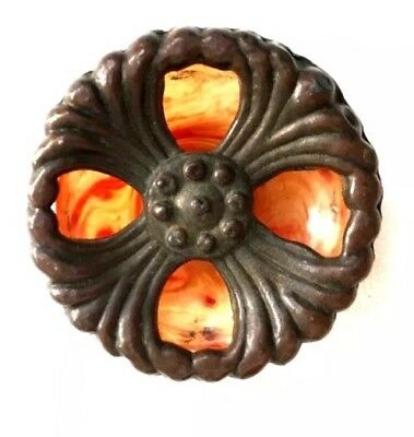 Brass & Bakelite Antique Hardware Art Deco Drawer Pull Cabinet Knob Handle