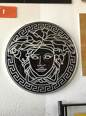 Versace - Medusa Head Wall Sign (Black/Silver)