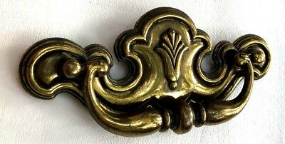 "Antique Hardware Batwing Vintage Brass Chippendale Drawer Pull 3 1/2"" centers"