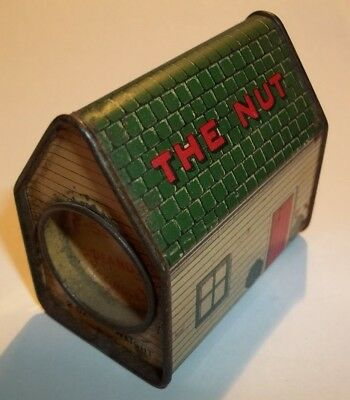 The Nut House of Lynn Massachusetts Tin litho Salted Peanuts Container