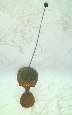 Antique Carved Wooden Resin Victorian Pin Cushion Exc. W/ Hat Pin $12.99