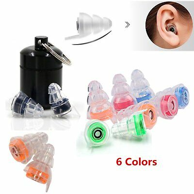 2X Noise Cancelling Earplugs for Concert Musician Motorcycle Hearing Protection
