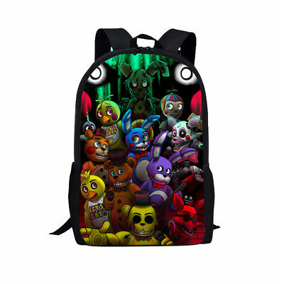 Five Nights At Freddy Backpack Boys Girls FNAF School Bags Rucksack Travel Bag
