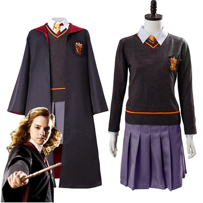 Harry Potter Hermione Granger Cosplay Costume Adult Gryffindor Uniform Skirt Set