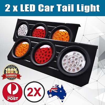 2X Led Tail Lights Truck UTE Trailer Stop Indicator 12V Pair Waterproof T