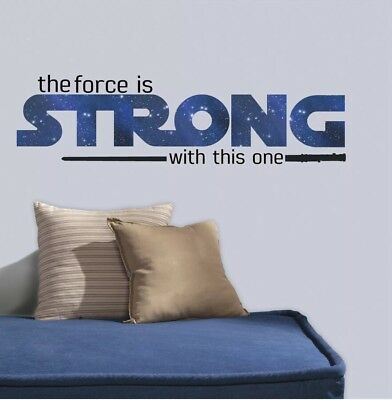 Star Wars Personalized Name Decal WALL STICKER Home Lettering Art Quote SQ104