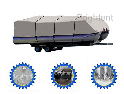 WATERPROOF 21-24 FT Trailerable Pontoon Boat Cover 600D Heavy Duty Fabric  GPT2H
