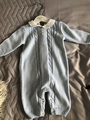 Baby boy Sarah Louise Knitted Romper 3 Months Spanish style
