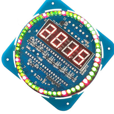 Assemble Rotating LED Electronic Temperature Display Board Digital Clock Hot x1