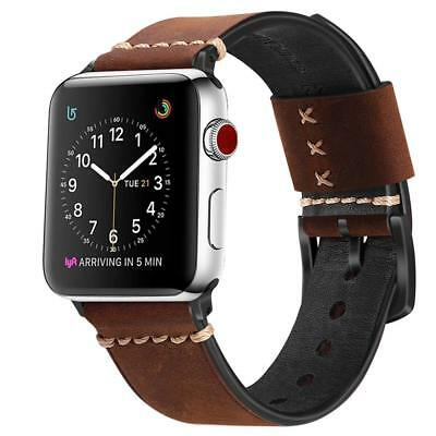 Apple Watch 42mm 3/2/1 Series Armband Lederarmband UhrBand Echtes Ersatz Band