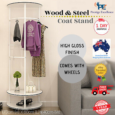 Wooden Coats Rack Jackets Bags Hats Scarf Clothing Hanger Hanging Stand Storage