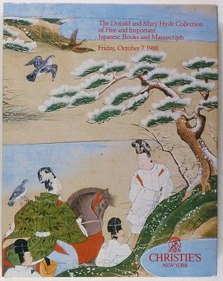 Antique Japanese Books & Manuscripts -Hyde Collection Catalog at Christies 1988