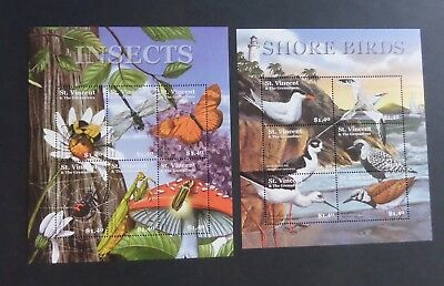 St Vincent 2001 Island Fauna insects bird SG5072/83 sheets MNH UM unmounted mint