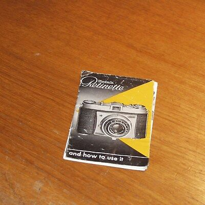 Original Instructions for KODAK RETINETTE camera 22 pages in ENGLISH