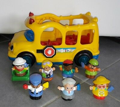 Lot 1 bus scolaire + 7 figurines LITTLE PEOPLE FISHER PRICE - lot n°2